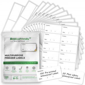 MHSEcoFriendly Freezer Labels Easy Peel Off