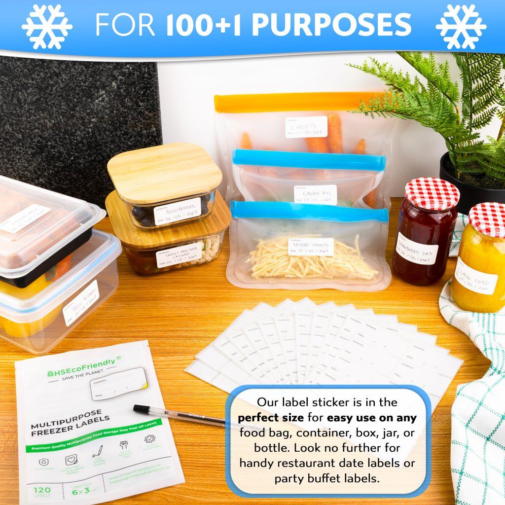 Multi purpose freezer labels easy peel off